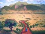 Painting of Tanzania landscape
