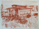 Drawing of chicken coop