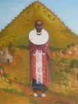 Painting of young Masai woman