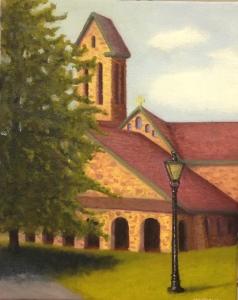 Abbey of St. John Oil Painting